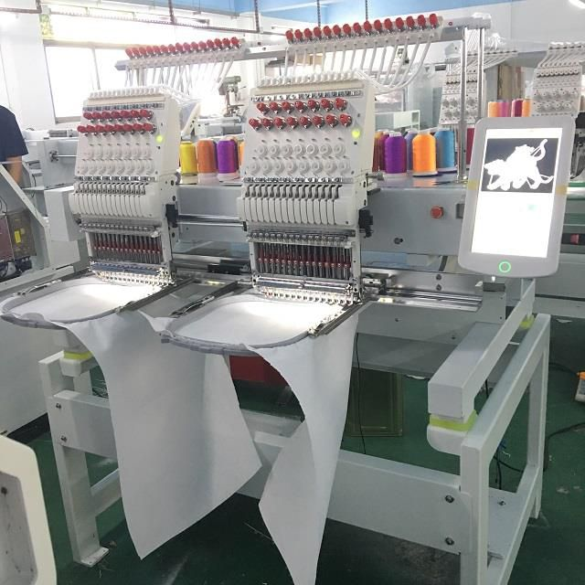 Hot Sale Product 2 Head Computerized Embroidery Machine Cap/flat Embroidery Machine